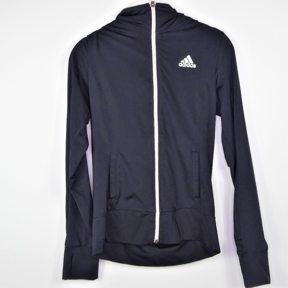 adidas Tops - Adidas Hoodie Track Jacket Full Zip Pockets